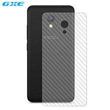 Gxe 2 шт. сзади Плёнки для Meizu M5c A5 очарование синий A5 3D прозрачный углеродного волокна задний Экран Protector (не закаленное Стекло)
