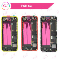 For IPhone 5C SE Back Middle Frame Chassis Full Housing Assembly Battery Cover Door Rear With