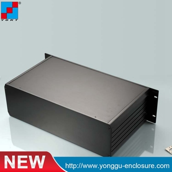 YGH-002 482*132-D mm (wxhxd) 3u 19 inch rack mount chassis black color  aluminum boxes electronics