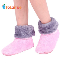 ToLaiToe Free Shipping Home Soft Plush Home Shoes Slippers Coral Fleece Indoor Floor Sock Indoor Slipper