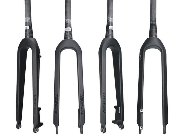 1pcs Full Carbon Mountain Bike Fork 1-1/8'' 1-1/2'' Tapered Bicycle Fork Toseek Disc Brake 26/27.5/29ER MTB Rigid Carbon Fork ultralight mountain bicycle rigid fork 3k full carbon fiber mtb bike disc brake front fork 1 1 8 28 6mm cycling fork 26 29er