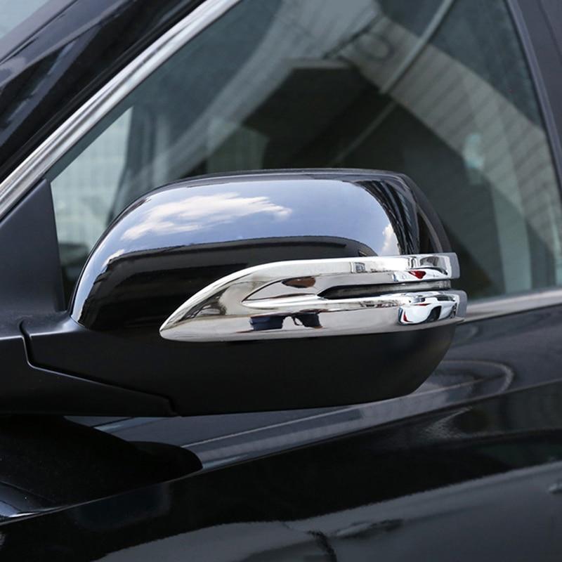 For  Honda CRV 2012-2016 Stainless Car Mirror Window Pillar Post Moulding Trim