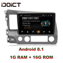IDOICT Android 8.1 Car DVD Player GPS Navigation Multimedia For Honda Civic Radio 2008-2011 car stereo idoict android 8 1 car dvd player gps navigation multimedia for honda crv radio 2008 2009 2010 2011 car stereo