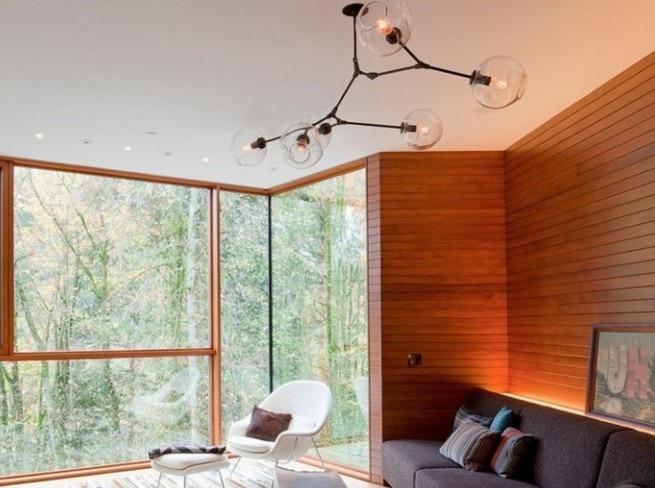 Kronleuchter Glaskugeln ~ Fünfarmiger mid century modern kronleuchter mit glaskugeln im