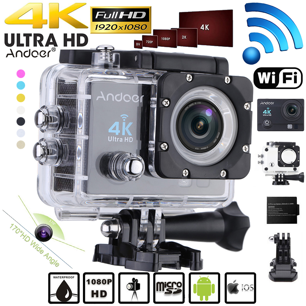 Sport & Action-videokameras Andoer Q3h 2 ultra-hd Lcd 1080 P 4 Karat Action Kamera Wifi 16mp 170 Weitwinkel Objektiv Sports Dv Mit Wasserdicht Fall Video Camcorder Unterhaltungselektronik