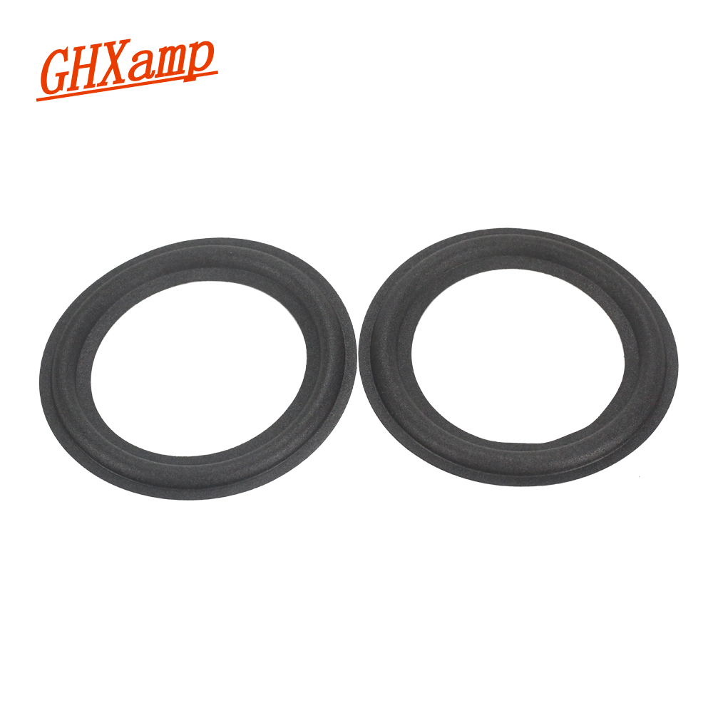 GHXAMP 2PCS 5.25 INCH 118mm Woofer Speaker Foam Side KTV Speaker Repair Accessories Sponge Side Edge Ring Circle