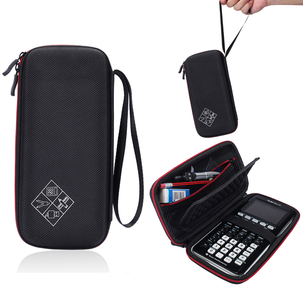 New EVA <font><b>Travel</b></font> Carry Pouch Sleeve Portable Protective Box Cover Bag Case For <font><b>Texas</b></font> Instruments TI-84 Plus Graphics Calculator CE