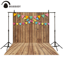 Allenjoy backgrounds for photography studio woodboard colorful flags baby newborn backdrop original design photocall photobooth