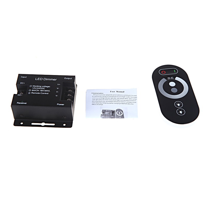 RF Touch Controller Dimmer Brightness Adjustable for Single Color LED Light Strip 12-24V customized 1 channel mini sd recorder main board dvr module odm offer micro dvr board