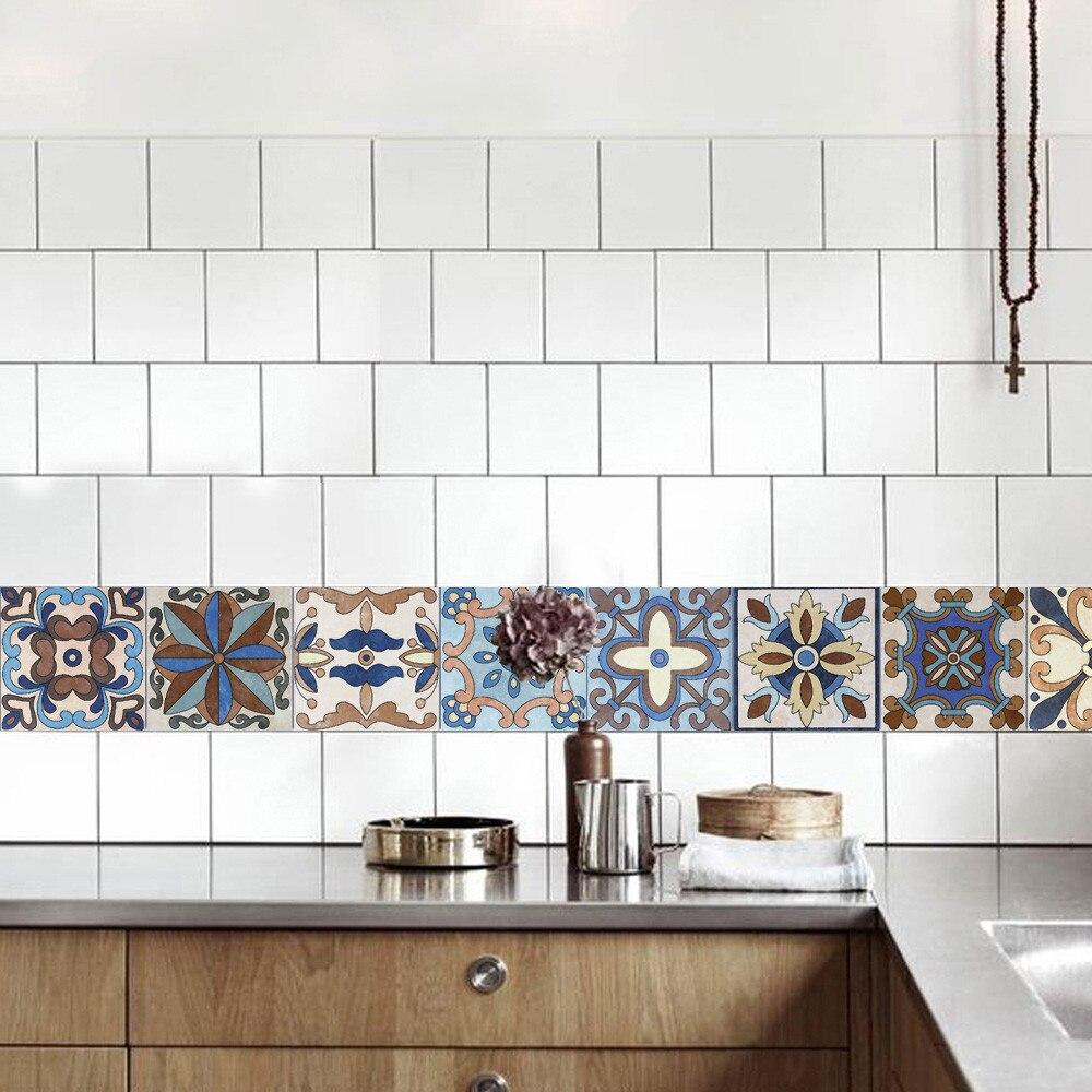 keuken tegels stickers : 25 Stks Muurstickers Zelfklevende Tegel Art Muurtattoo Sticker Diy