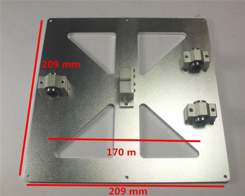 Reprap Mendel Prusa i3 metal upgrade Y Carriage Plate Kit SCV8UU SC8UU with timing belt holder for DIY 3D printer aluminum alloy reprap prusa mendel diy 3d printer linear bearings silver 10 pcs