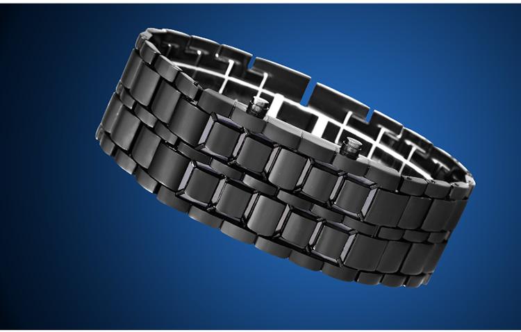 Aidis youth sports watches waterproof electronic second generation binary LED digital men's watch alloy wrist strap watch 36