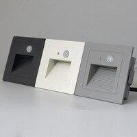 Ip65 pir 모션 탐지기 + 빛 센서 led 단계 계단 조명 야외 footlight recessed 코너 벽 램프 외관 정원 빛|LED 지하등|등 & 조명 -