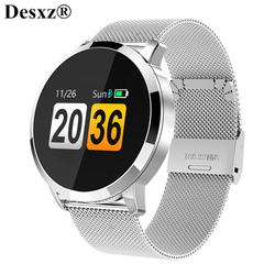 Desxz Q8 Smart Watch OLED Color Screen Smartwatch men Fitness Tracker Heart Rate Sports Fitness Wearable Smart band Watches