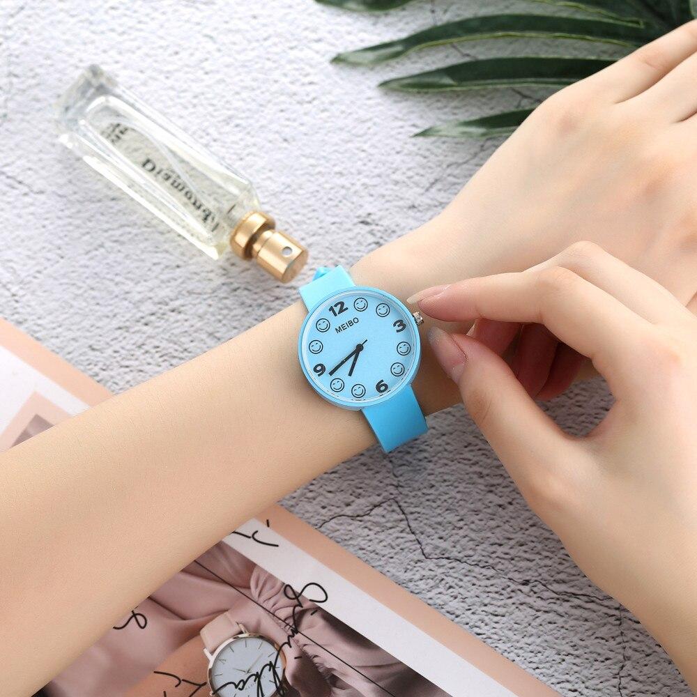 MEIBO Super Watch Elegant Design Women Gift Beautiful Fashion Simple Watch Ladies Leather Belt Watch For Gift YY17