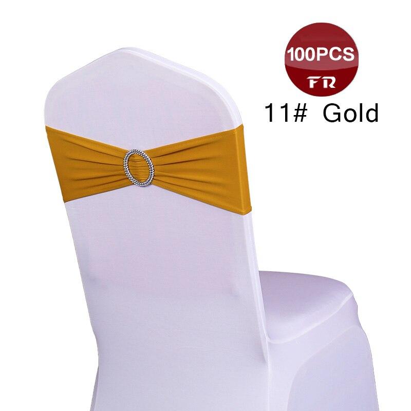 Envío desde 100 piezas LICRA boda silla cubierta decoración elástica silla bandas para banquete fiesta cumpleaños decoración silla marco-in Bandas from Hogar y Mascotas    1