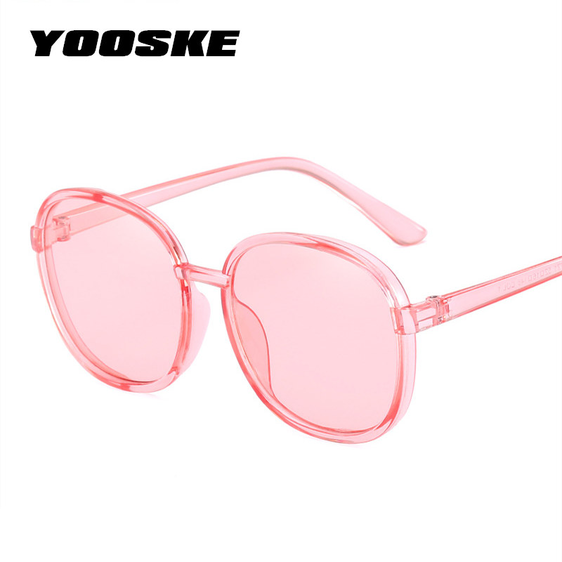 YOOSKE 90s Round <font><b>Sunglasses</b></font> Women 2018 Transparent Color Frame Sun Glasses Female Retro Visor Mirror Clear Blue <font><b>Pink</b></font> <font><b>Sunglass</b></font>
