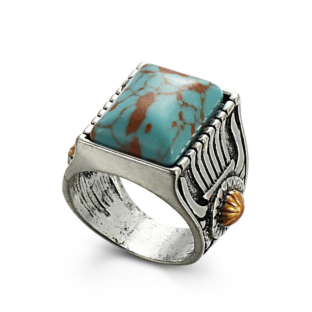 Wholesale Navajo Indian Handmade Silver Turquoise Ring Women Men Vintage Jewelry