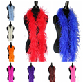 2 Meters/Lot fluffy ostrich feather boa skirt Costumes/Trim for Party/Costume/Shawl/Craft ostrich feather in wedding decorations