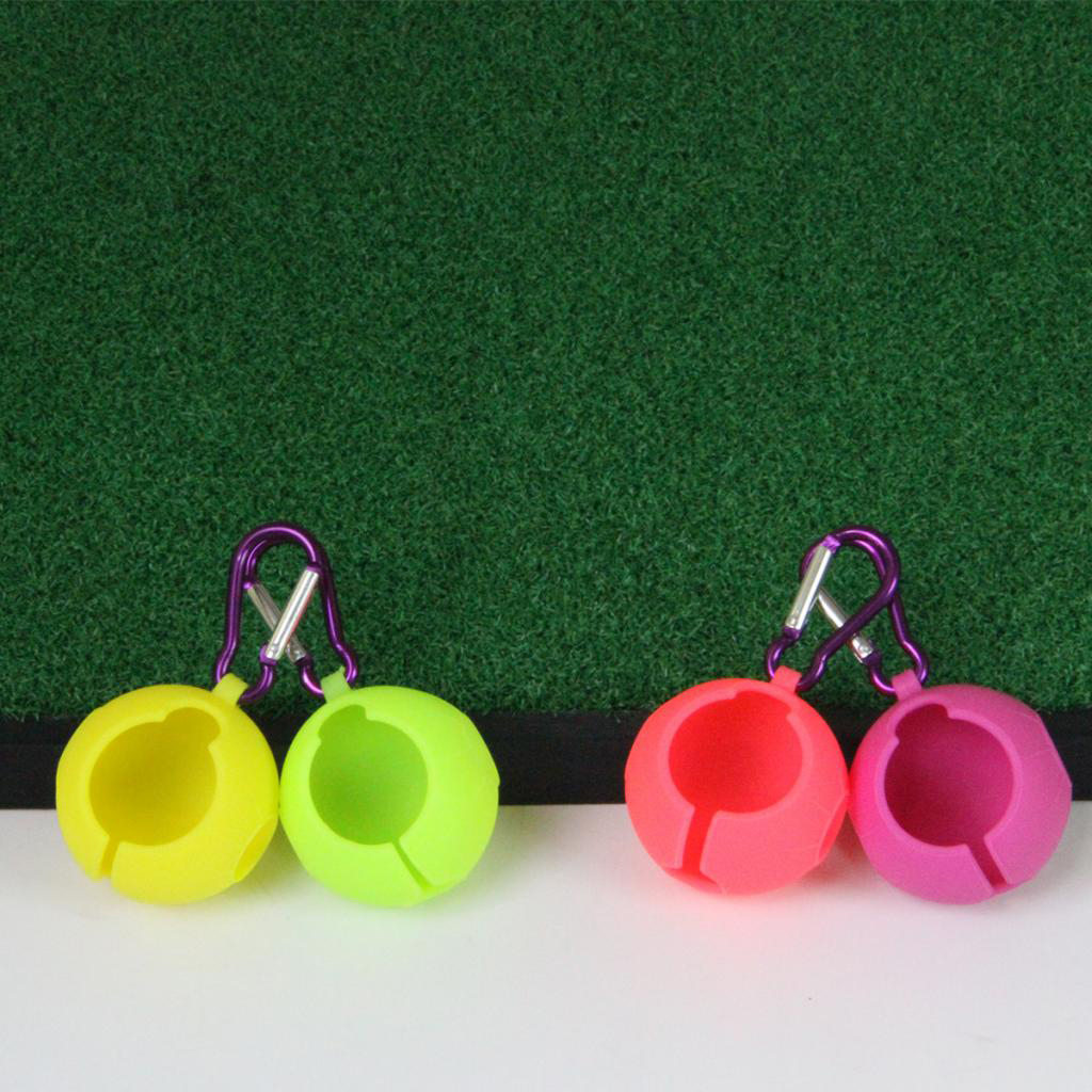 Golf Ball Holder Carrier With Belt Hanging Hook Contains One Ball Pouch On Course Training Aids