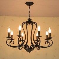 Ретро люстры, лампы промышленных накаливания лампы накаливания Edison люстра ресторан Освещение в помещении из металла потолочные люстры кан
