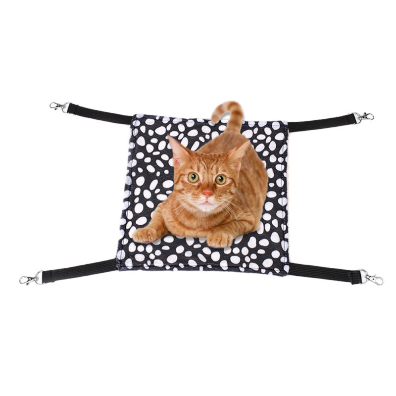 Nice 2 Layers Soft Cat Hammock Winter Hammock Pet Kitten Cage Bed Cover Cushion Warm Hanging Cat Bed Mat Cat Beds & Mats Home & Garden