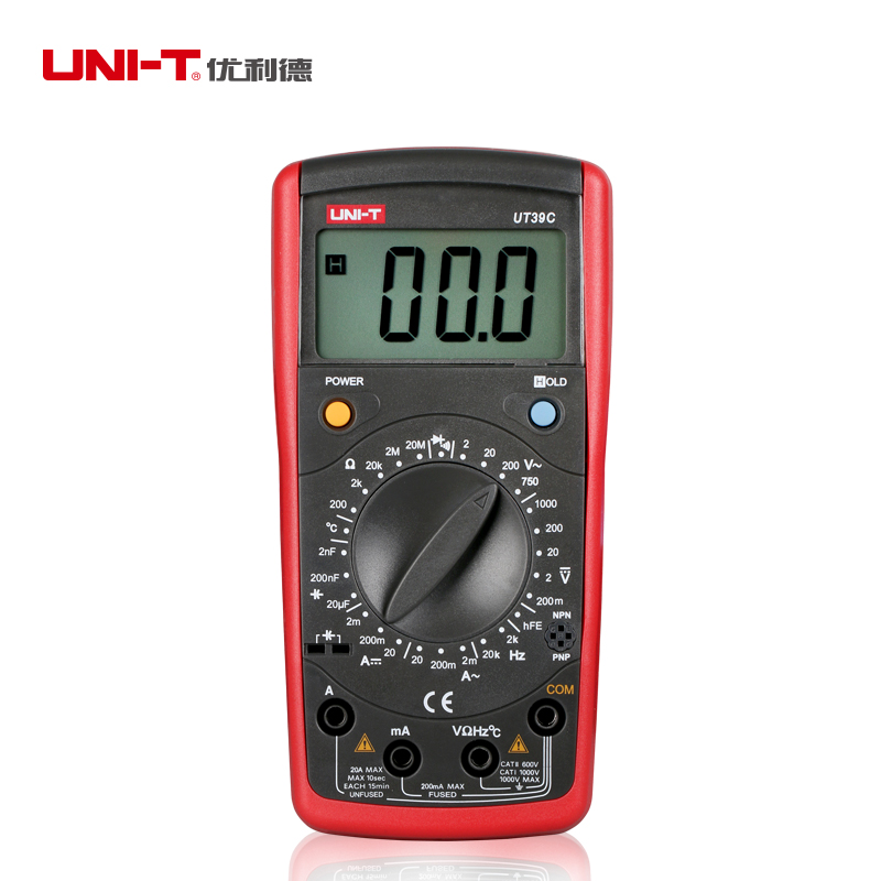 UNI-T UT39C UT 39C General Digital Multimeters -40C-1000C Thermometer Voltmeter Ammeter Multi Testers Manual Data Hold Function цены