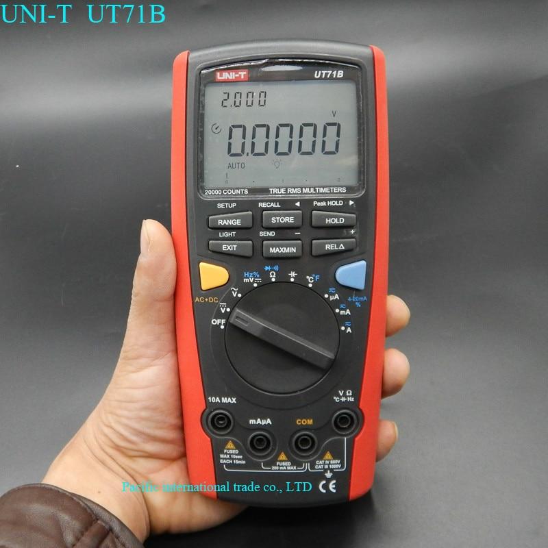 UNI-T UT71B professional Intelligent LCD Digital AC DC current voltage USB true REL Resistance Tester Ammeter Multitester мультиметр uni t uni trend uni t ut203 rel dc ac 400a uni ut203 400a