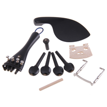 High Quality Violin Accessories And Parts Ebony Wood 4/4 Bridge Chinrest Endpin Tuners Tail Gut Practical Violin Parts
