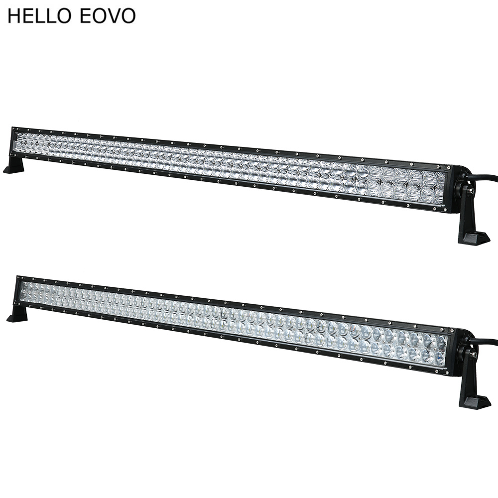HELLO EOVO 4D 5D 52 Inch 500W LED Light Bar for Work Indicators Driving Offroad Boat Car Tractor Truck 4x4 SUV ATV 12V 24v 1p 10w car led work light for indicators motorcycle driving offroad boat car tractor truck suv atv flood spot lamp 12v 24v