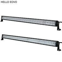 HELLO EOVO 4D 5D 52 Inch 500W LED Light Bar For Work Indicators Driving Offroad Boat