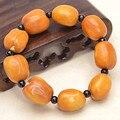 Beeswax fruit Bodhi beads bracelet jewelry bracelets 2x1.5cm beeswax Bodhi women men jewelry 0211