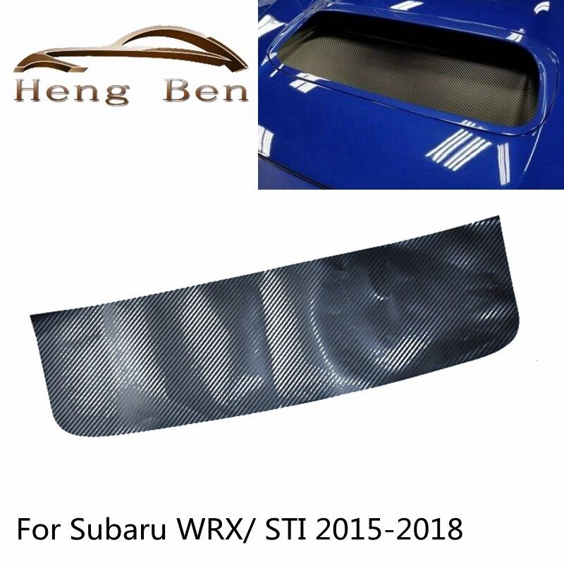 1 Pcs סיבי פחמן הוד סקופ כיסוי מדבקה עבור Fit סובארו WRX/STI 2015-2018