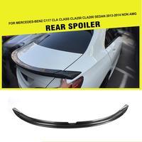 2014 W117 C117 CLA250 CLA260 CLA45 P Style 3PCS SET Carbon Fiber Spoiler Auto Car Boot