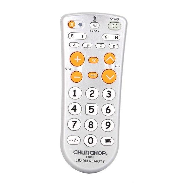 L108e função de aprendizagem 11 chave controle remoto universal