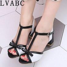LVABC HOT Sale 2019 New arrive sandals women shoes square hi
