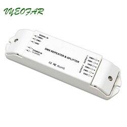 Nowy Bincolor BC 812 DMX512 mocy sygnału repeater DMX wzmacniacz mocy 1 do 2 wyjście kanału DMX rozdzielacza mocy kontrolera DMX w Kontrolery RGB od Lampy i oświetlenie na