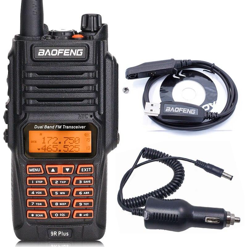 BaoFeng UV-9R Plus Водонепроницаемая портативная рация 8 Вт UHF VHF Двухдиапазонный IP67 HF трансивер UV 9R Ham портативное радио - Цвет: as pic show 1