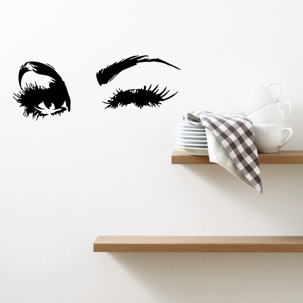 Eyes wall decal images home wall decoration ideas wall vinyl sticker decal sexy girls face wink beautiful eyes wall vinyl sticker decal sexy girls amipublicfo Images