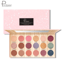 Pudaier New Arrival 18 Colors Matte Shimmer Glitter Eyeshadow Pallete Waterproof Not blooming Natural Nude Makeup Cosmetic Kit