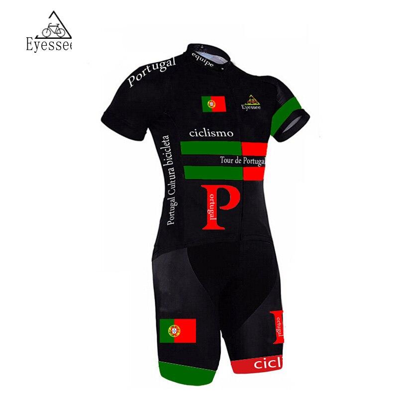 Prix pour Eyessee 2017 Portugal Vélo Vêtements Vélo Skinsuit Hommes de Triathlon Sportswear Ropa De Ciclismo Maillot Cyclisme Vêtements