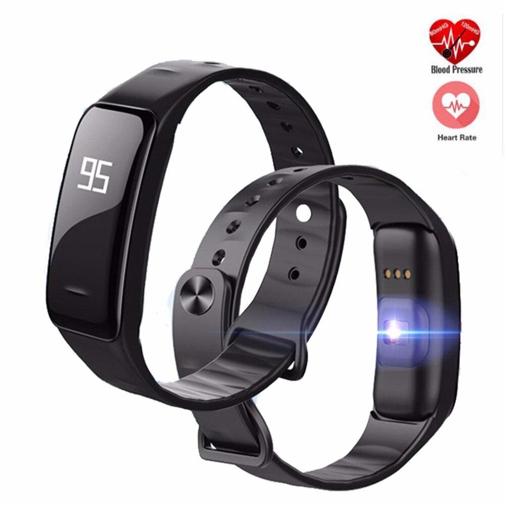 Новый C1 <font><b>Bluetooth</b></font> Smart Браслет монитор сердечного ритма кровяное давление/Кислорода Смарт-Браслет для iOS телефона Android pk s2 i6 pro
