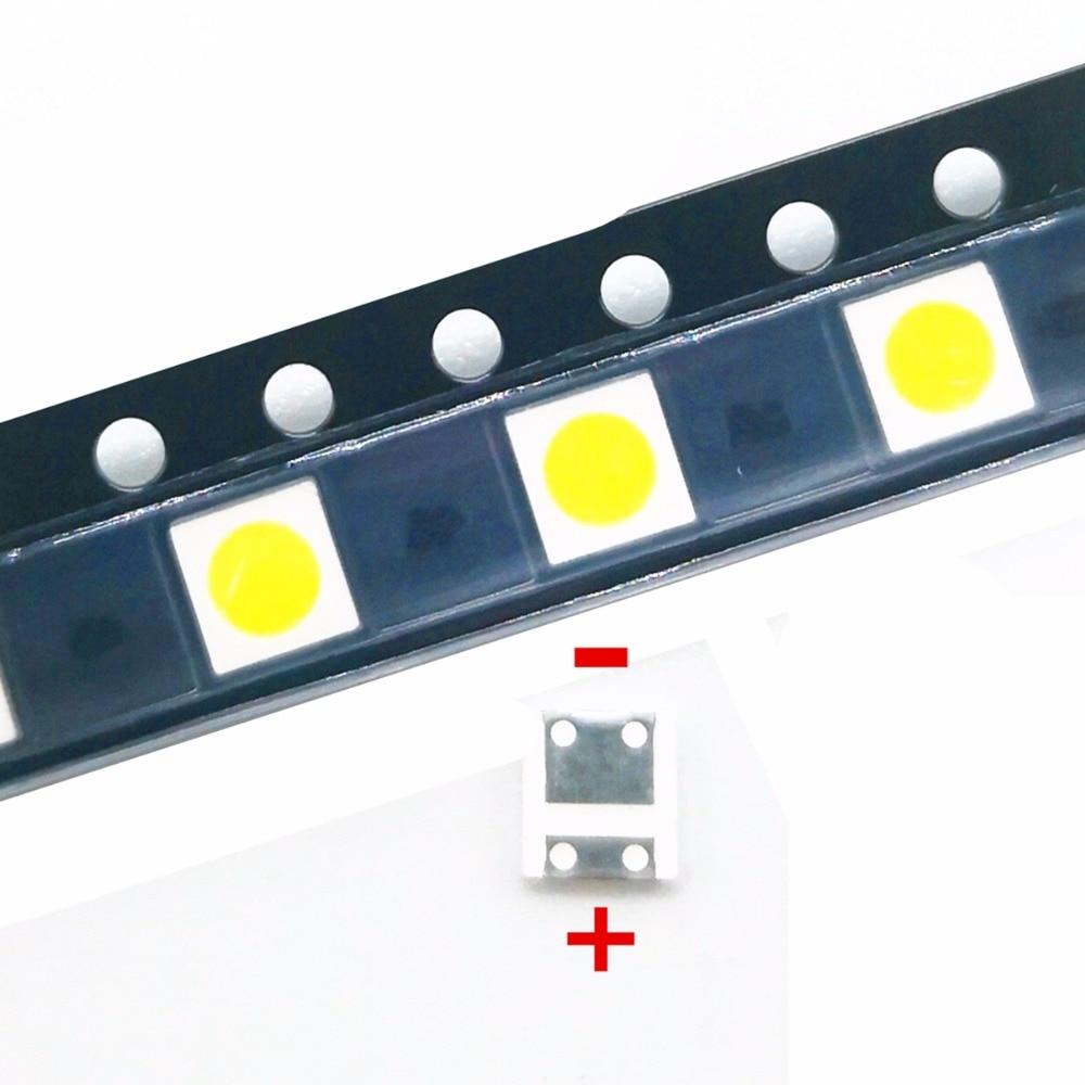 100pcs For WOOREE LED backlight LCD TV bead 6V 2W 3535 LED SMD Lamp bead 3535 cold white