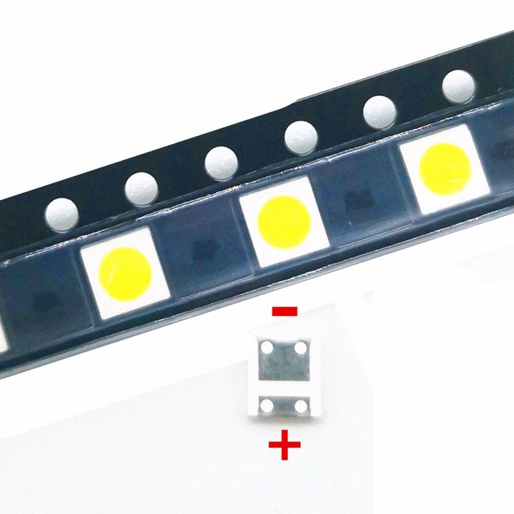100pcs SMD LED TV Backlight Televisa Cold White 1W 3V 100lm 3535 3537 Cool White Backlit LCD Backlight for TV Repair Application