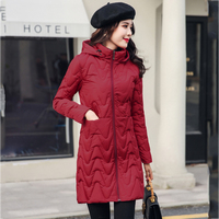 2019 Casual Winter Jacket Women Hooded Long Padded Womens Coat Outwear Autumn Parka Abrigos Mujer Invierno