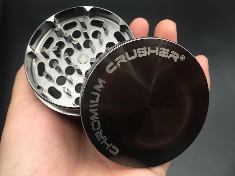 Metal CHROMIUM CRUSHER Grinder Crusher Grinder 40mm 63mm 4pc Zicn Alloy Smoke Tobacco Herbal Herb Grinder For Smoking Dry Herb