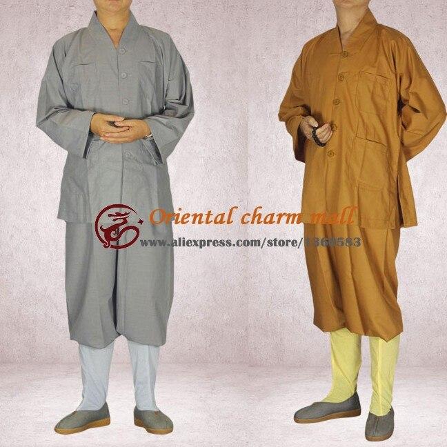 Высокое Качество Китайский Шаолинь Монах одежда Буддисты Ежедневная одежда Дзен-Буддизма Спортивный Костюм одежда Бесплатная доставка