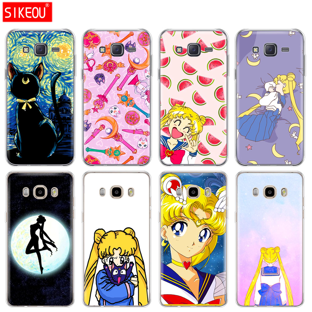 silicone cover phone case for Samsung Galaxy J1 J2 J3 J5 J7 MINI 2016 2015 prime Sailor Moon Sailor Mercury cute image