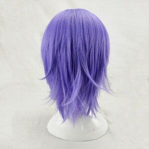 Image 5 - HAIRJOY человек Для женщин фиолетовый Косплэй парик короткий кудрявый Синтетический волос вечерние парики с челкой 7 Цвета в наличии БЕСПЛАТНАЯ ДОСТАВКА