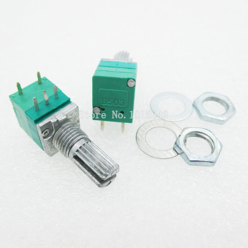 5 шт./лот 5-контактный RV097NS однокомпонентный потенциометр B50K с переключателем аудио/усилитель мощности/уплотнительный потенциометр 15 мм